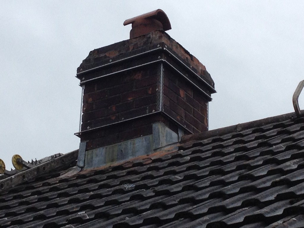 After chimney rendering and painting