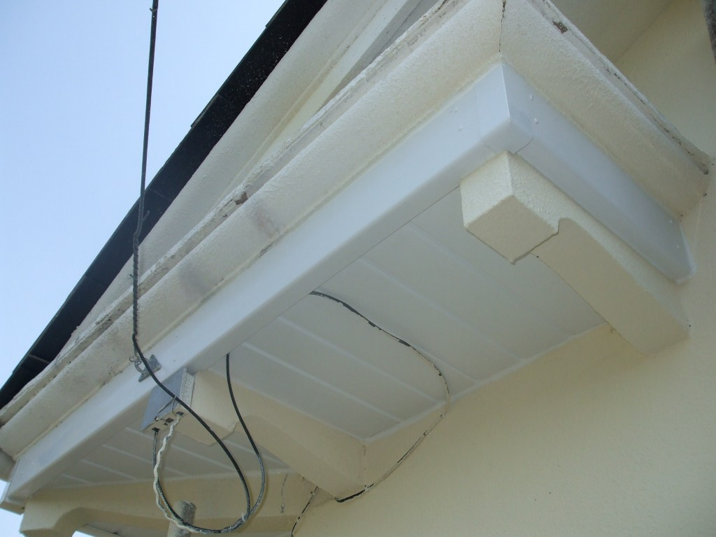 After gutter and soffit repairs