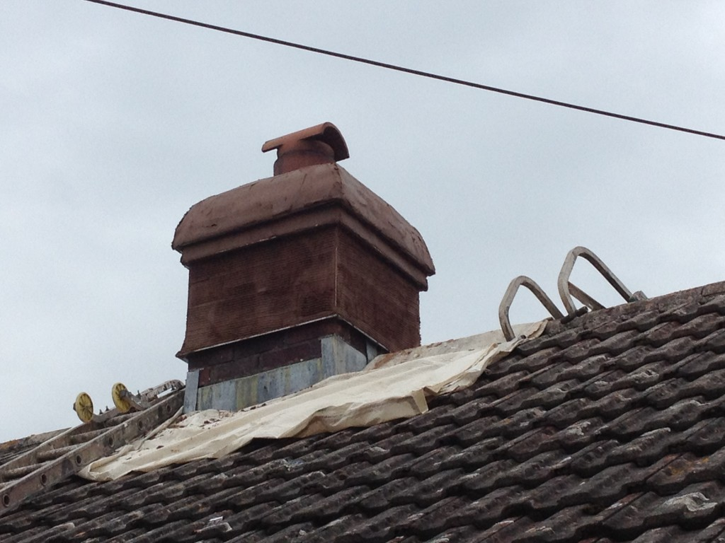 Before chimney rendering and painting