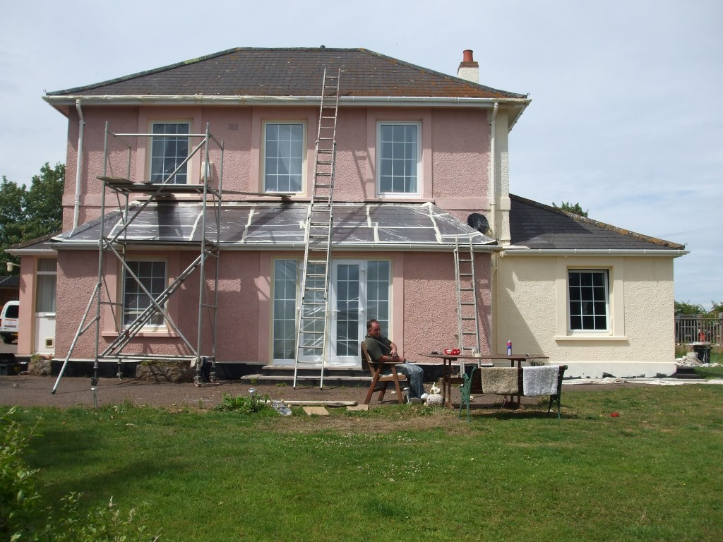 Back of house during maintenance